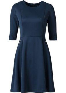 Платье из материала под неопрен (темно-синий) Bonprix
