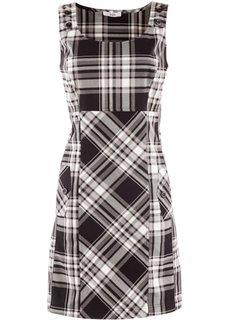 Платье (черный/белый в клетку) Bonprix