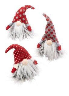 Декоративные фигурки Гномик (3 шт.) (красный/серый/белый) Bonprix