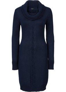 Вязаное платье с высоким воротом (темно-синий) Bonprix