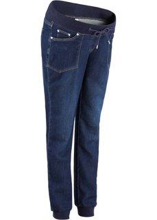 Мода для беременных: спортивные джинсы из мягкого трикотажа (темно-синий «потертый») Bonprix