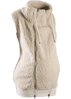 Флисовая жилетка для беременных с карманом для малыша (бежевый) Bonprix