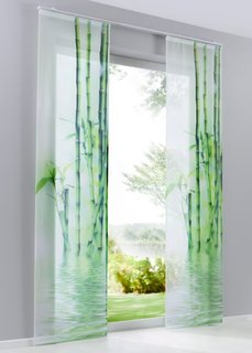 Японская штора Бамбук (1 шт.), Шина с лентой велкро (зеленый) Bonprix