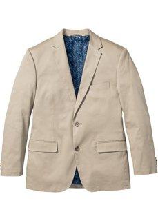 Хлопковый пиджак Regular Fit, cредний рост (N) (бежевый) Bonprix