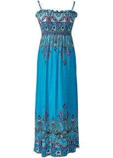 Платье (бирюзовый с рисунком) Bonprix