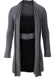 Платье (серый меланж/черный) Bonprix