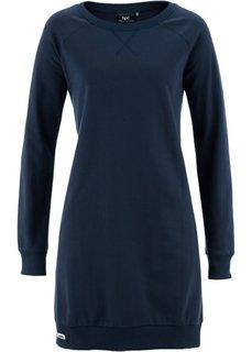 Трикотажное платье (темно-синий) Bonprix