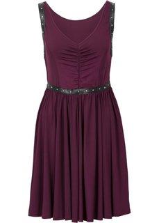 Платье с заклепками (красная ягода) Bonprix