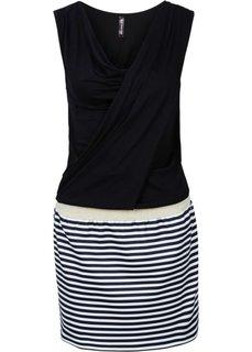 Платье с эффектом 2 в 1 (черный/белый) Bonprix