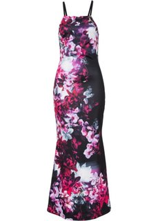 Макси-платье (черный с рисунком) Bonprix