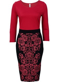 Платье-футляр (темно-красный/черный) Bonprix