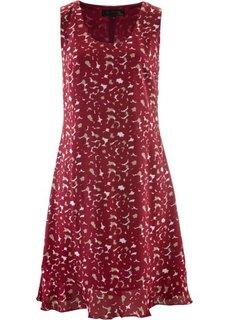 Платье (шиферно-серый/красная ягода/цвет белой шерсти) Bonprix