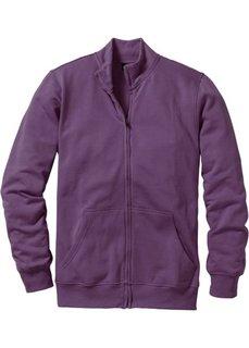 Трикотажная куртка стандартного покроя (виноградный) Bonprix