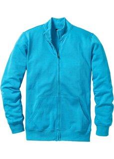 Трикотажная куртка стандартного покроя (бирюзовый) Bonprix