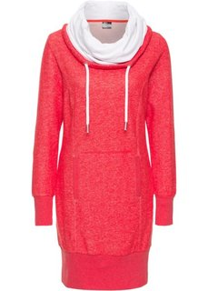 Трикотажное платье с длинным рукавом (клубничный меланж) Bonprix
