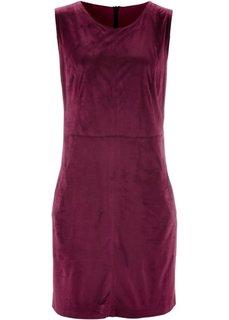 Платье из искусственной замши (красная ягода) Bonprix