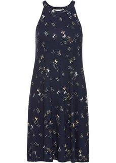 Трикотажное платье (темно-синий/с рисунком бабочек) Bonprix