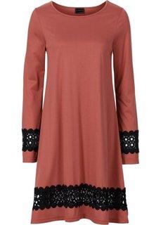 Трикотажное платье (бордово-коричневый) Bonprix