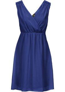 Шифоновое платье (темно-синий) Bonprix