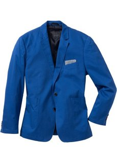 Хлопковый жакет Regular Fit, низкий + высокий рост U + S (синий) Bonprix