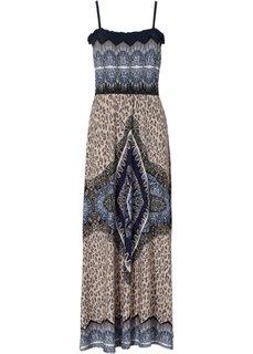 Платье макси (индиго) Bonprix