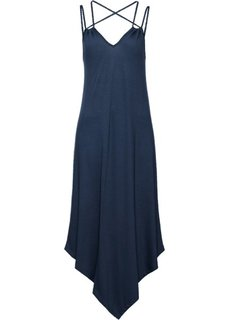 Трикотажное платье на тонких бретелях (темно-синий) Bonprix