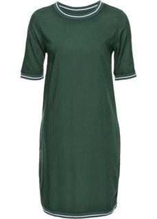 Платье (темно-зеленый) Bonprix