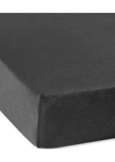 Трикотажная натяжная простыня для матраса высотой 40 см (черный) Bonprix