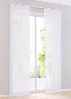 Японская штора Майнц (1 шт.), Шина с лентой велкро (белый) Bonprix