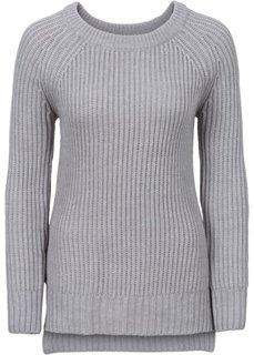 Пуловер с разрезами по бокам (светло-серый меланж) Bonprix