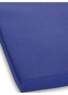 Простыня-чехол из эластичного джерси (синий) Bonprix