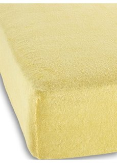 Махровая простыня-чехол для детской кровати (желтый) Bonprix