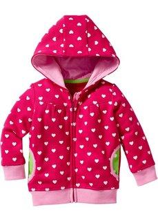 Анорак для малыша из биохлопка (горячий ярко-розовый с рисунком) Bonprix