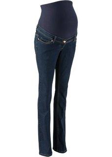 Слегка расклешенные джинсы для будущих мам (темный деним) Bonprix