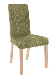 Чехол для стула Меланж (зеленый) Bonprix