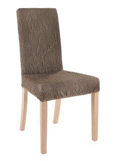 Чехол для стула Меланж (светло-коричневый) Bonprix