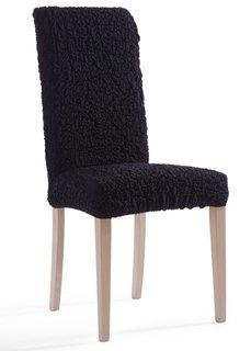 Чехол на стул Кринкл (черный) Bonprix