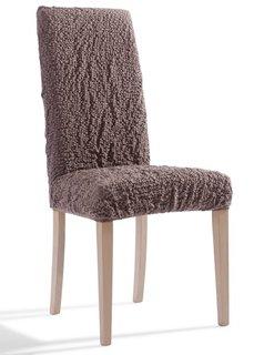 Чехол на стул Кринкл (коричневый) Bonprix