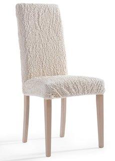 Чехол на стул Кринкл (кремовый) Bonprix