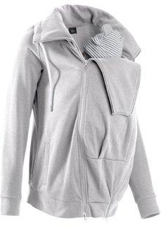 Трикотажная куртка со вставкой для малыша (светло-серый меланж) Bonprix