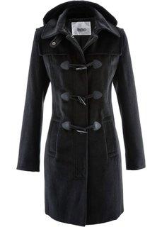 Пальто с капюшоном (черный однотонный) Bonprix