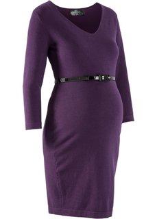Вязаное платье для беременных (темно-лиловый) Bonprix