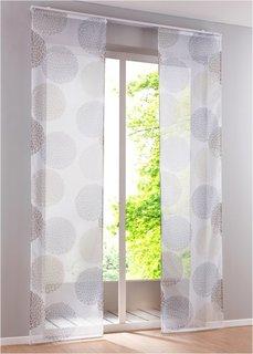 Японская штора Фабио (1 шт.), Шина с лентой велкро (цвет камня) Bonprix