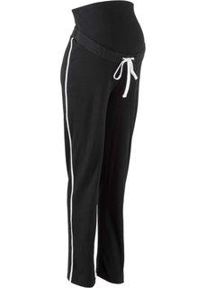 Трикотажные брюки для будущих мам (черный) Bonprix