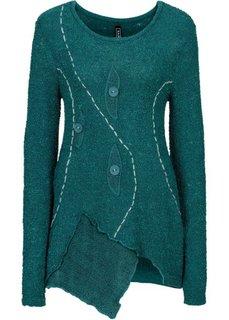 Вязаный пуловер (сине-зеленый) Bonprix