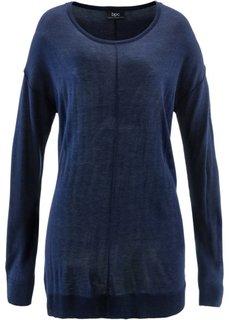Пуловер в стиле оверсайз (темно-синий) Bonprix