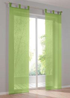 Японская штора Уни, петли, 1 шт. (зеленый майский) Bonprix