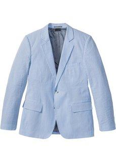 Пиджак Slim Fit из материала сирсакер (нежно-голубой в полоску) Bonprix