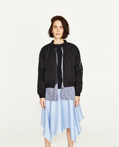 Куртка-бомбер с рубашкой Zara