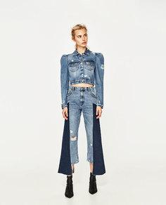 Джинсовая куртка с объемными рукавами Zara